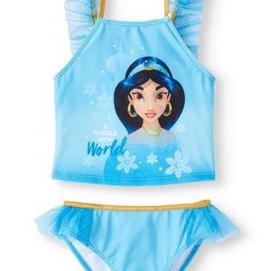NWT DISNEY Aladdin Jasmine Two Piece TuTu Swimsuit